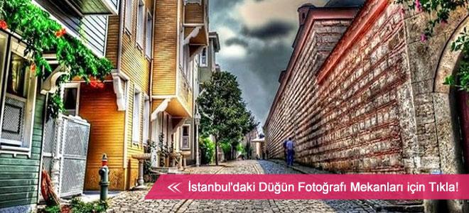 İstanbul'un alternatif düğün fotoğraf mekanları