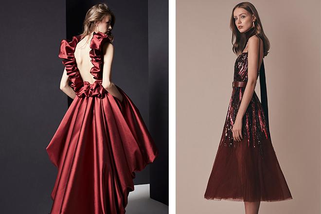bordo kına elbisesi