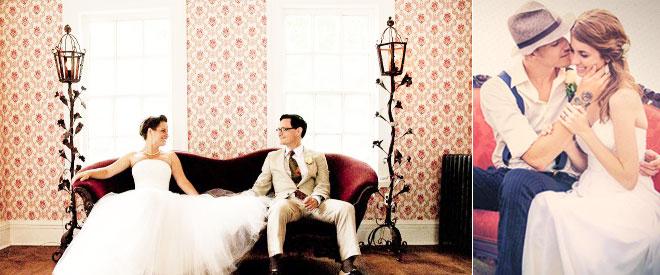 Vintage koltuk ve aksesuarlarla düğün fotoğraf çekimi