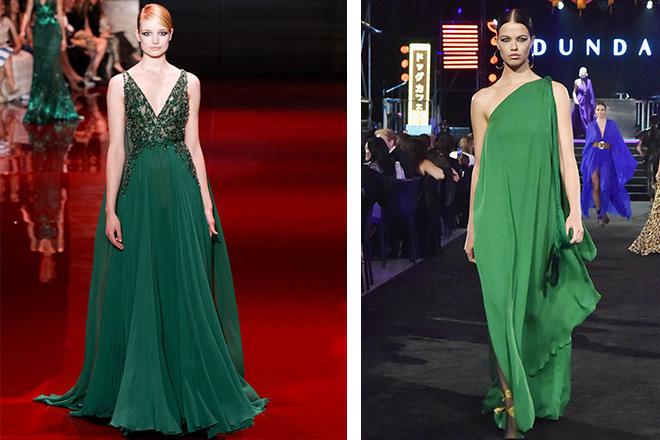 yeşil kına elbisesi