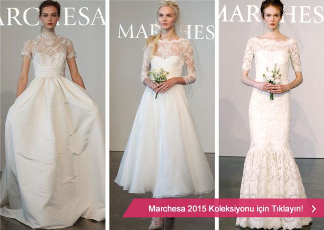 2015 Marchesa gelinlik kreasyonu ve vintage gelinlik modelleri