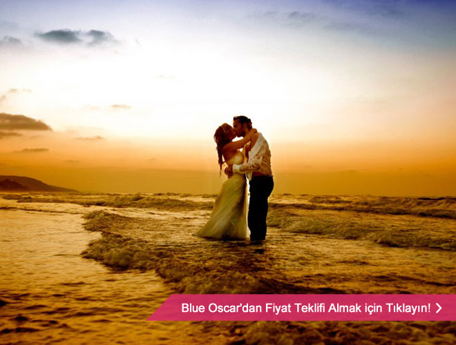 Güneşin batmak üzereyken yarattığı romantik atmosfer