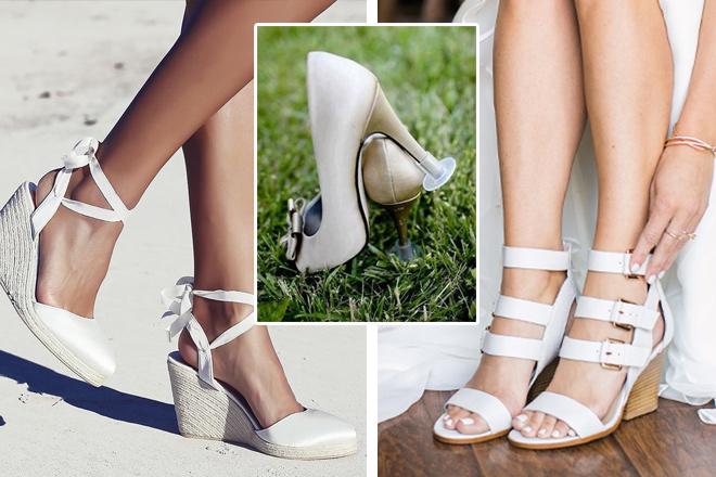 kır düğünü için ayakkabı