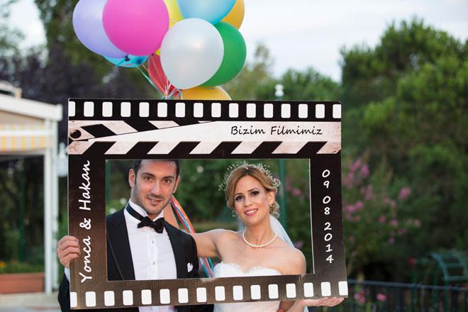 1 - sinema temalı bir düğün ve filmin en güzel sahnesinde: yonca ve hakan