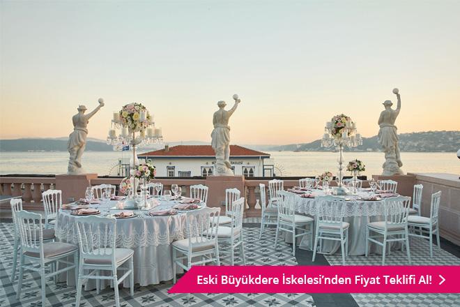 istanbul'un deniz manzaralı düğün mekanları
