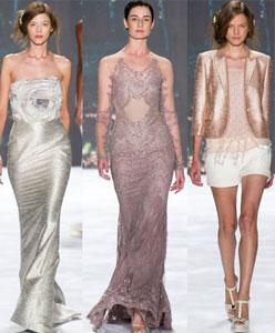 New York Fashion Week'ten Çarpıcı Gelinlikler