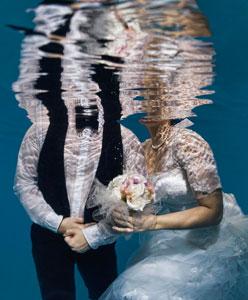 Su Altında Düğün Fotoğrafları