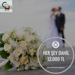 Dugun.com Çiftlerine Özel Herşey Dahil 200 Kişilik Full Paket %25 İndirimli !