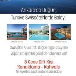 Ankara'da Düğün , Türkiye Swissoteller'de Balayı