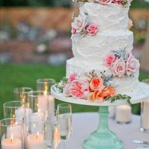 Çiçekli Düğün Pastası Modelleri