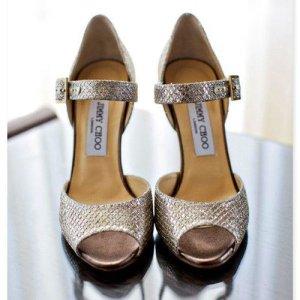 Parıltılı Gelin Ayakkabıları