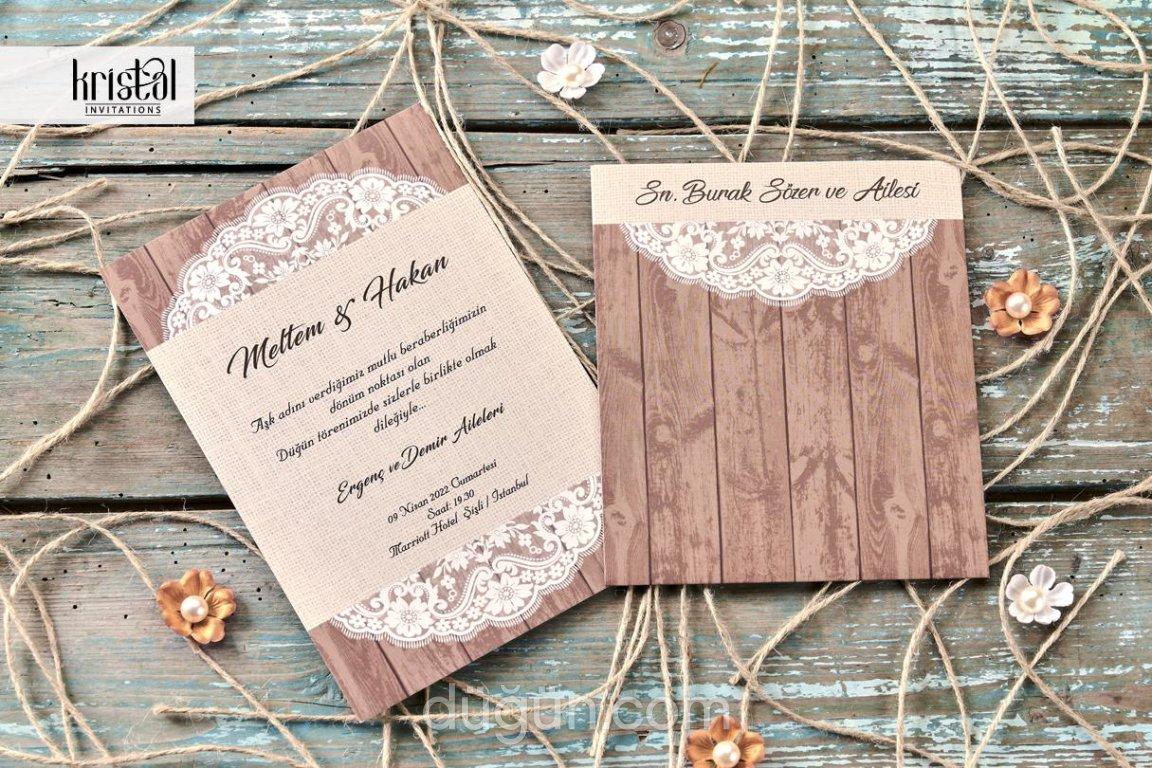 BRC Matbaa - Düğün Davetiyesi