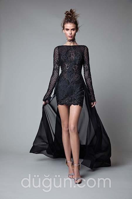 e9fa7c3a5a0fb Uzun Kollu Abiye Elbise Modelleri
