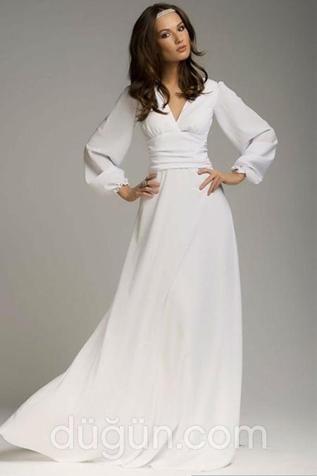b912778b79cd3 Beyaz Uzun Elbise Modelleri