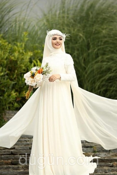 912b96dd9248e 2019 Tesettür Nikah Elbisesi Modelleri