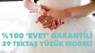 """Evlilik Teklifine """"Evet"""" Dedirtecek Tektaş Yüzük Modelleri"""